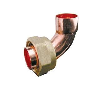 "Copper Bent Tap Connector 22mm x ¾"" Endfeed"