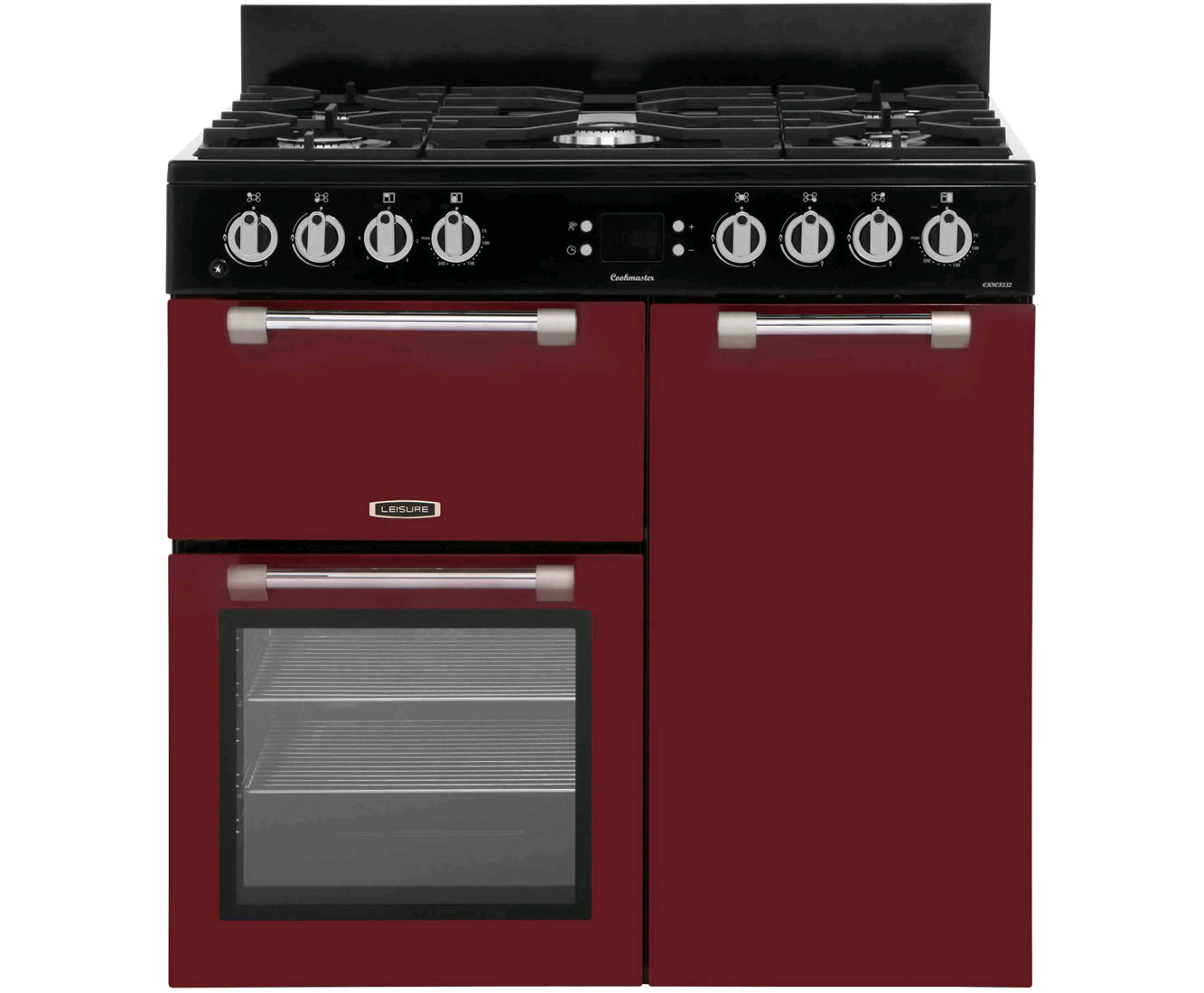 Leisure Cookmaster Dual Fuel 90cm Range Cooker Red
