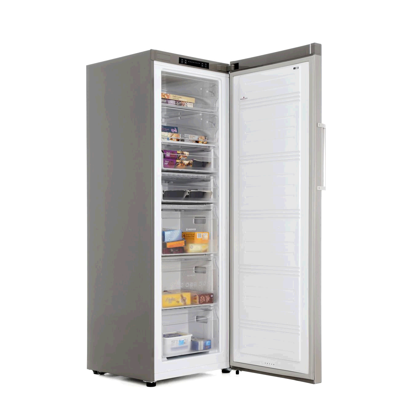 Hoover HVUN6172XH Tall  Frost Free Freezer H175 W 60cm Stainless Steel A+ Energy 7 Drawers