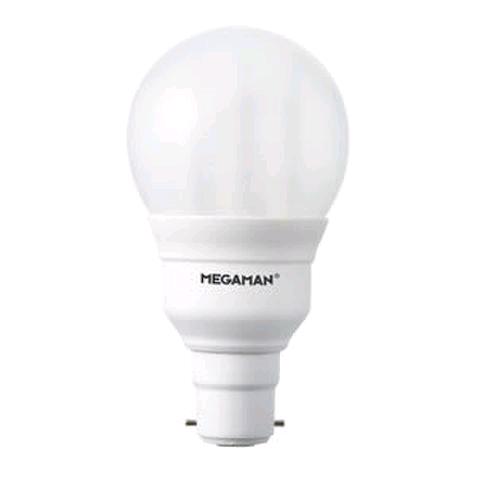 Megaman 11W BC GLS Lamp Low Energy