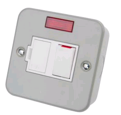 Niglon Metal Clad 13A DP Switched Fused Spur & Neon