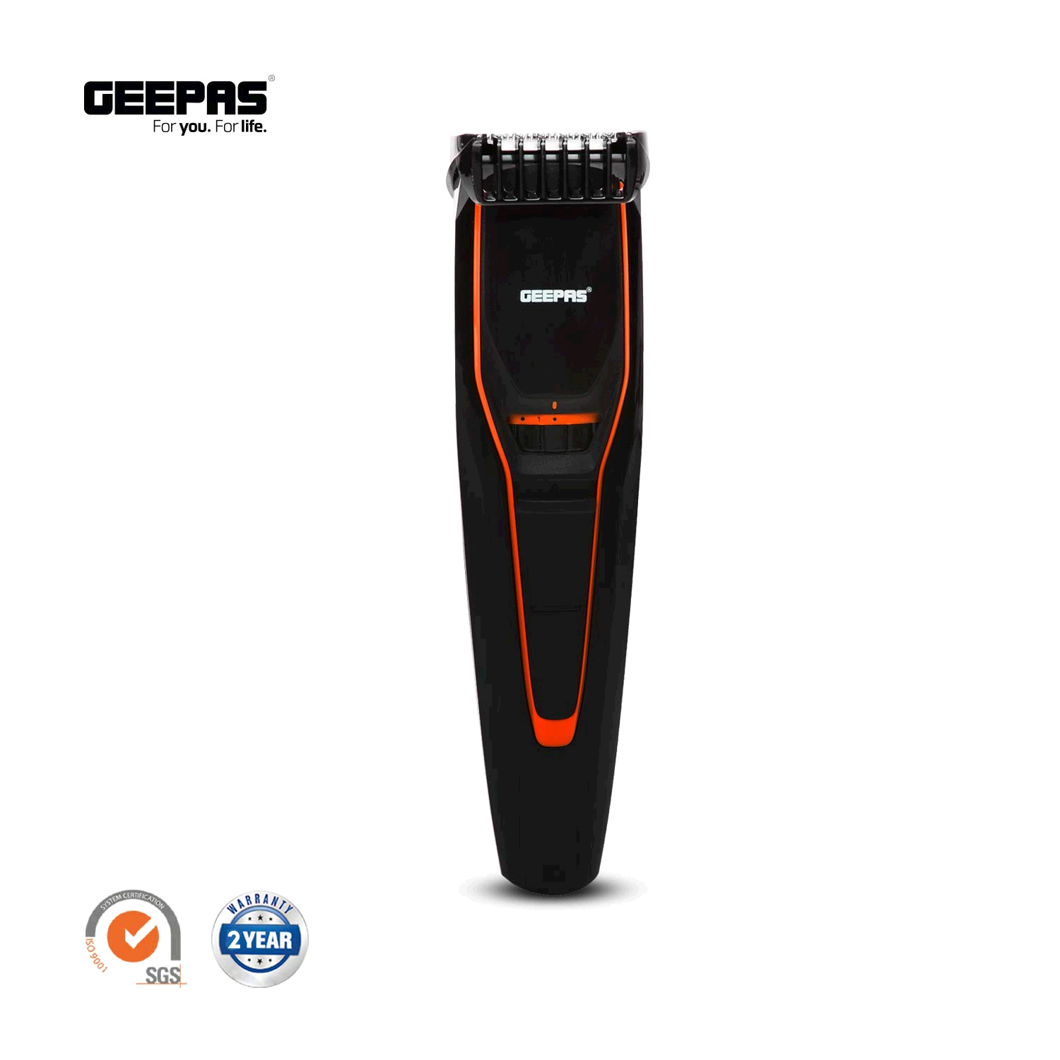 Geepas Stubble Trimmer 0.5mm To 10mm Orange