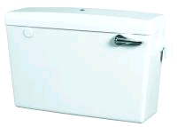 Concord Low Level Slimline Plastic Cistern Side Entry White