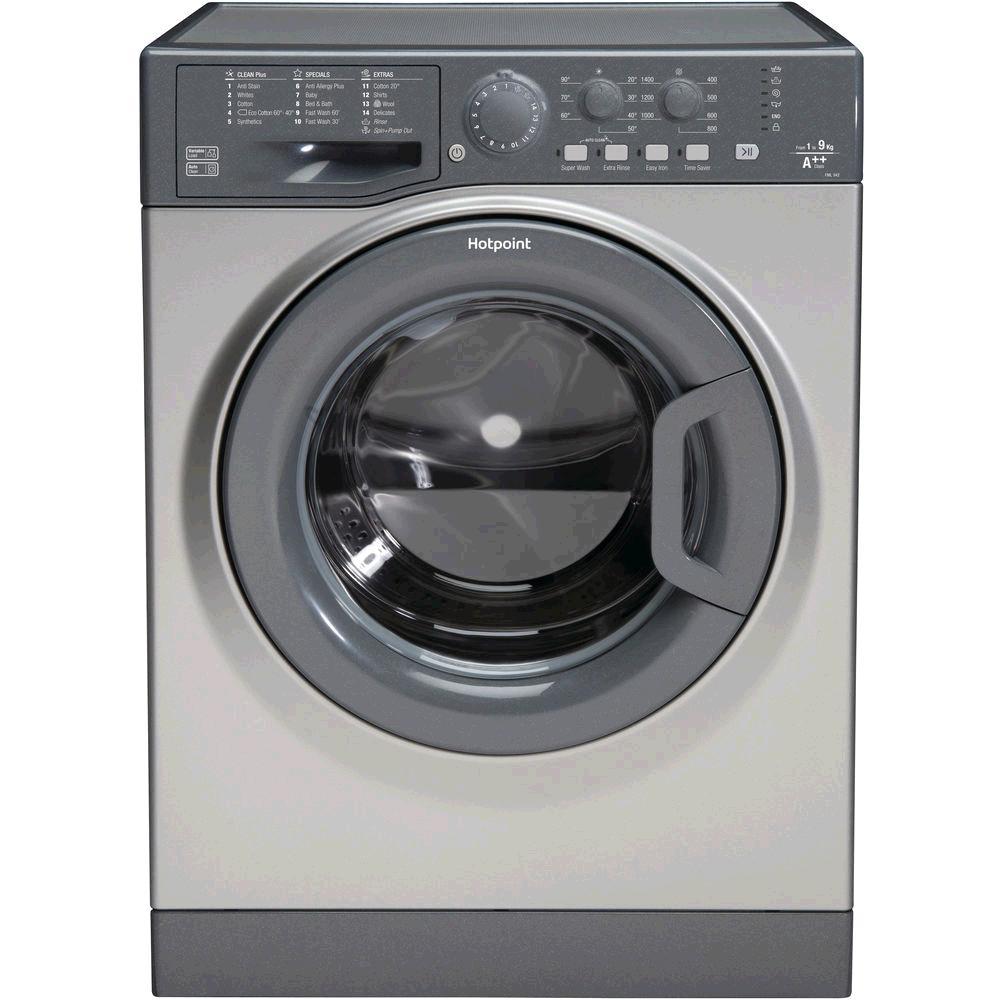 Hotpoint FML942G Washing Machine 9kg 1400 Spin Speed Quick Wash Inverter Motor Graphite Silver