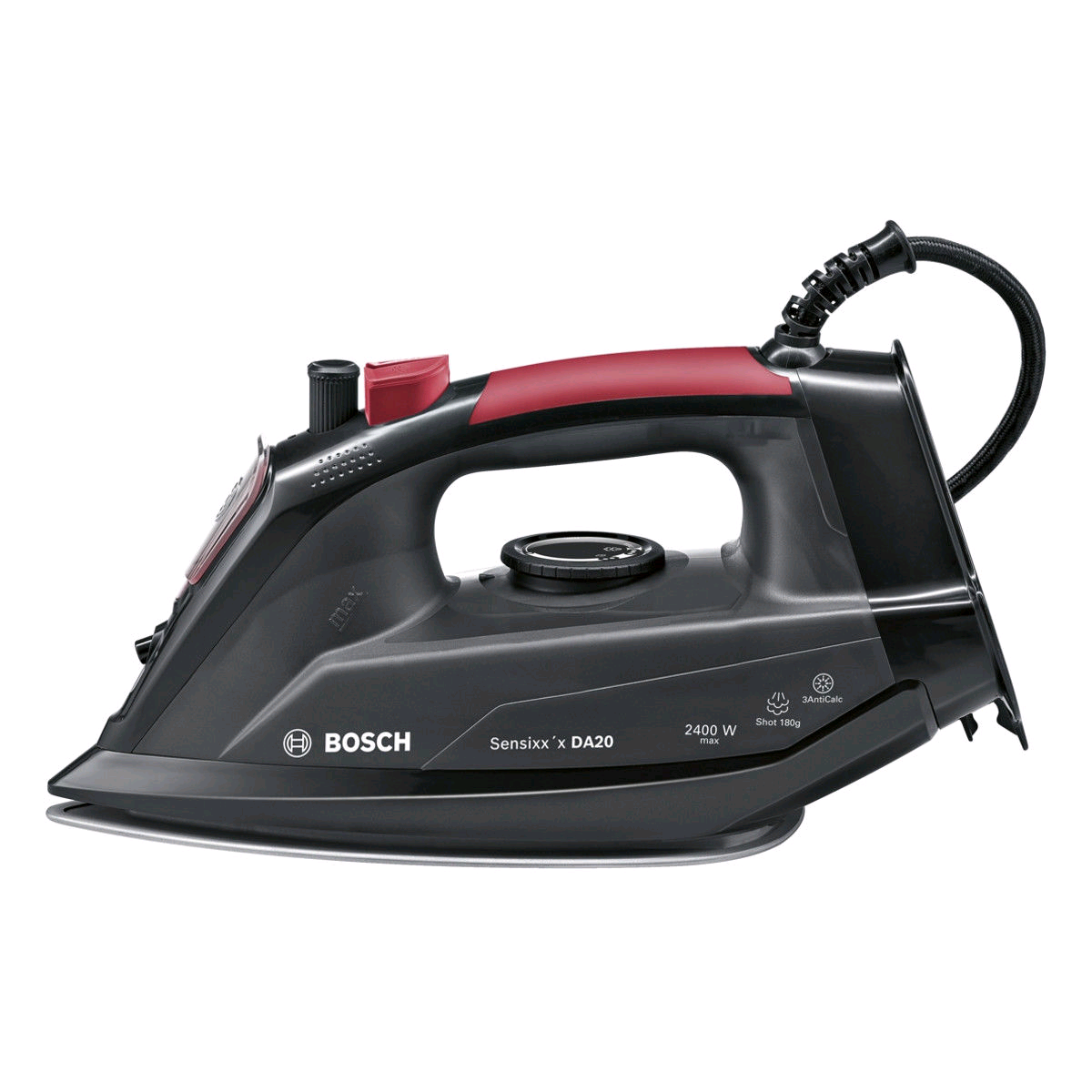 Bosch Sensixx Black & Red Steam Iron 2400w