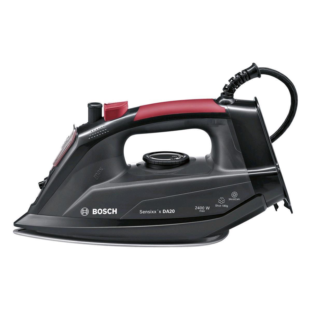 Bosch Steam Iron 2400w 330ml Tank Black & Red