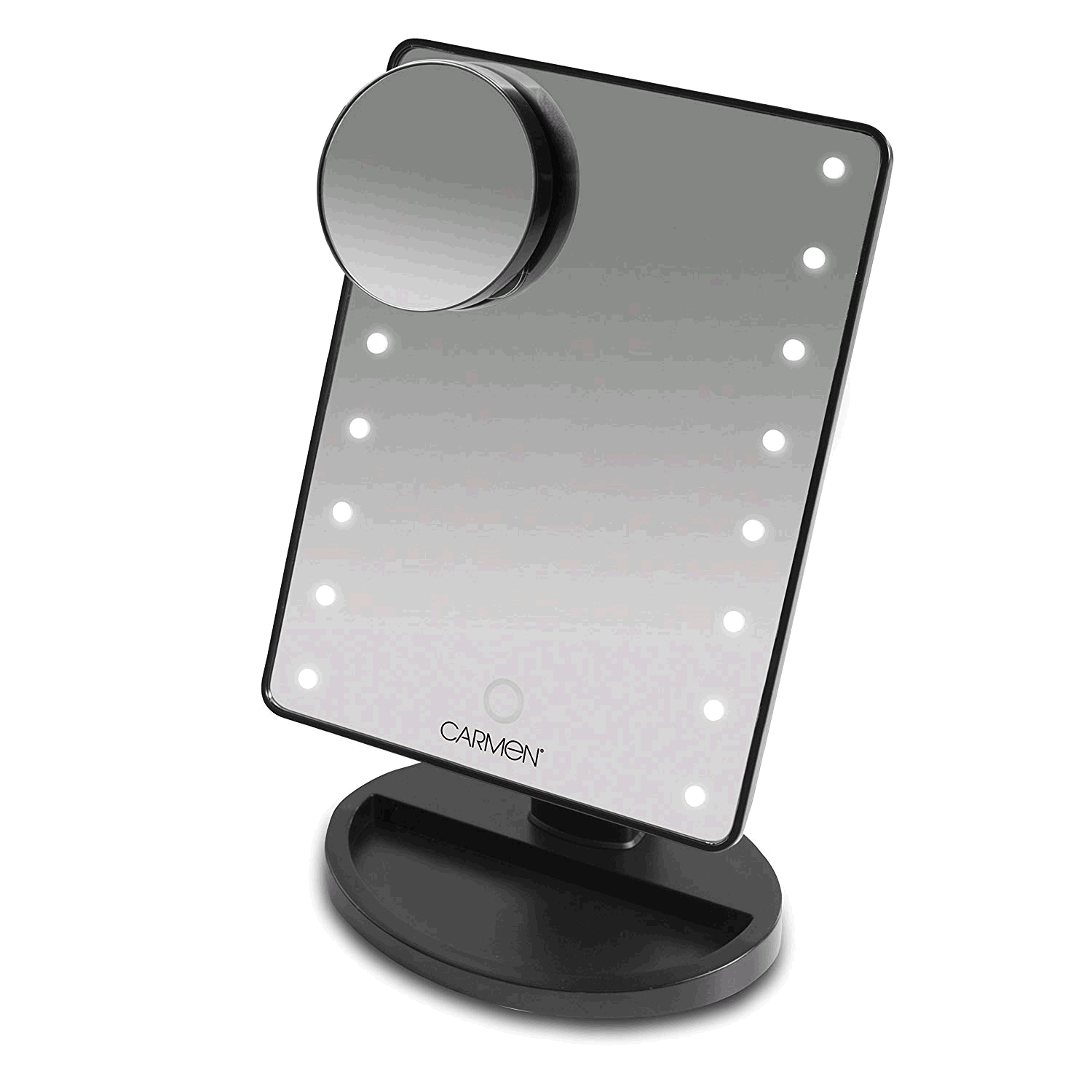 Carmen LED Illuminated Mirror Smart Touch Screen & Rotating Neck