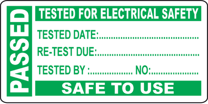 Industrial Signs Laminated Pass Test Labels Large (Roll 250)