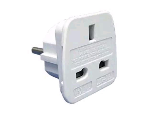 Home Hardware 2792599 Travel Adaptor Single Uk to Europe HHBP1667