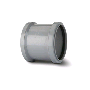 "Soil Pipe Double Socket 4"" /110mm Grey SH44"