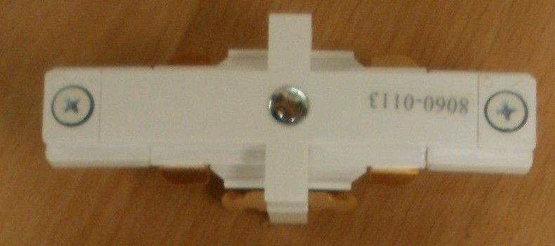 JCC Mainline Track Straight Connector White