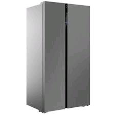 Beko American Style Fridge Freezer 368/272ltr in Brushed Steel