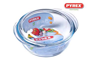 PYREX 204A000/6143 CASSEROLE DISH ROUND 1.6LTR