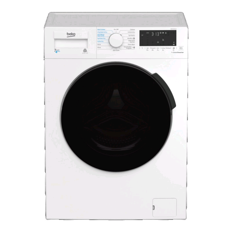 Beko Washer Dryer 7kg 1200 Spin Speed Wash 4kg Dry