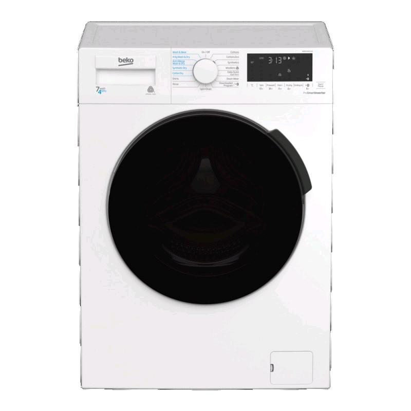 Beko Washer Dryer 7kg 1200 Spin Speed Wash 4kg Load