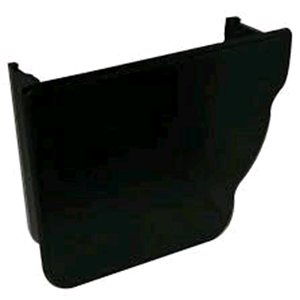 Floplast Niagara Square Gutter Internal Stop End LH in Black