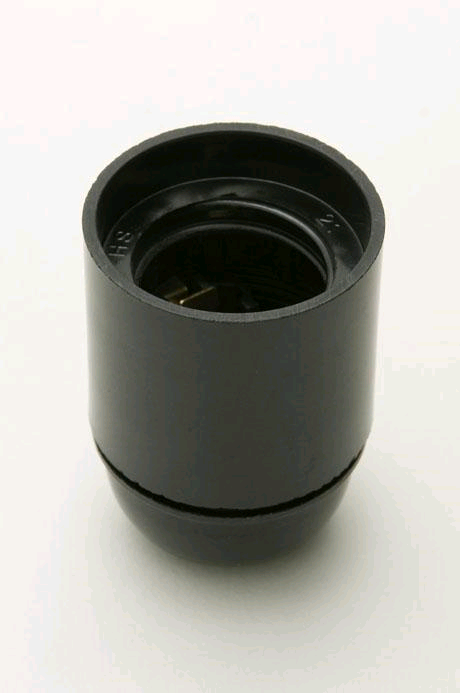 Jeani ES Plastic Lampholder 10mm Entry Plain Liner Black