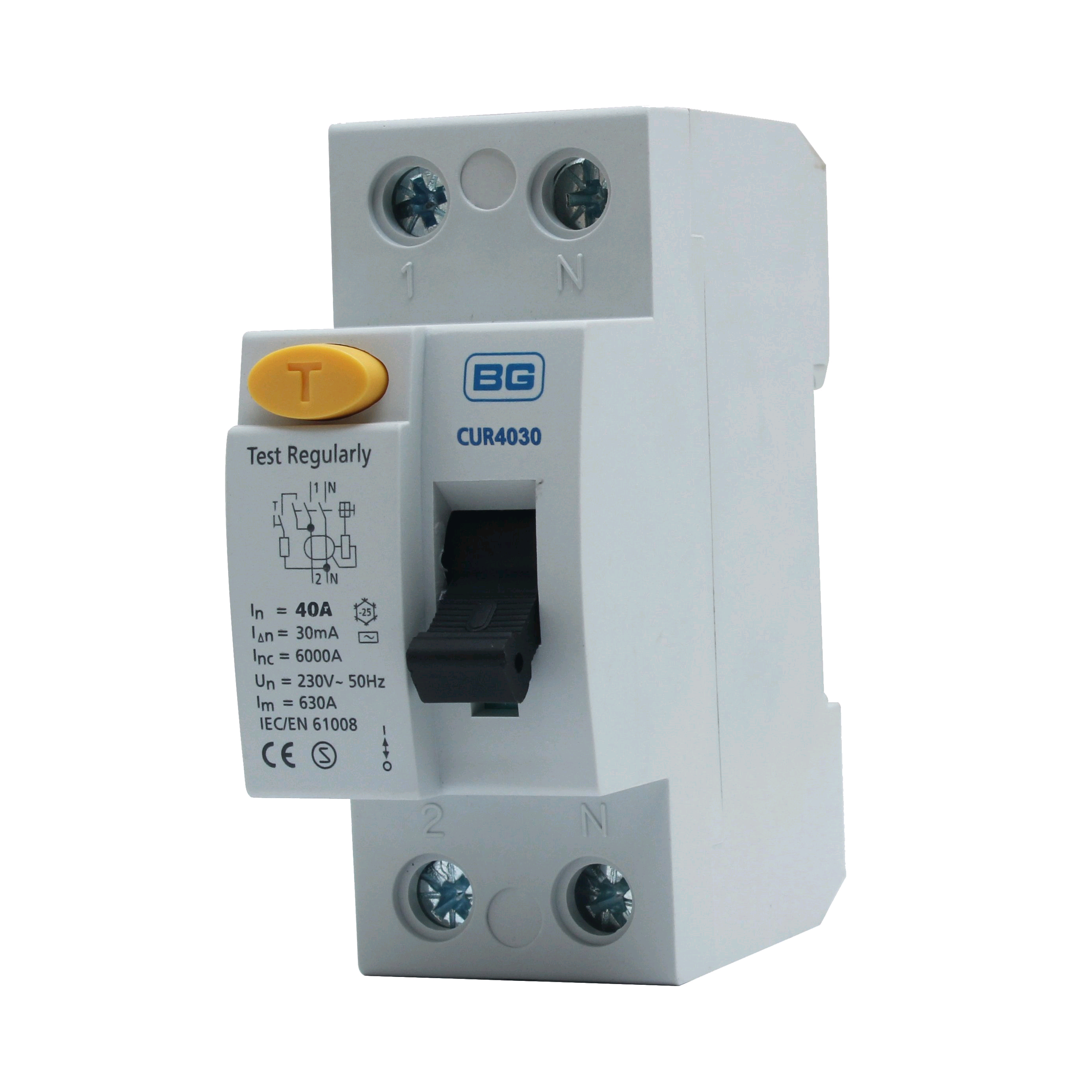 BG DP RCD 80a 100mA Time Delay
