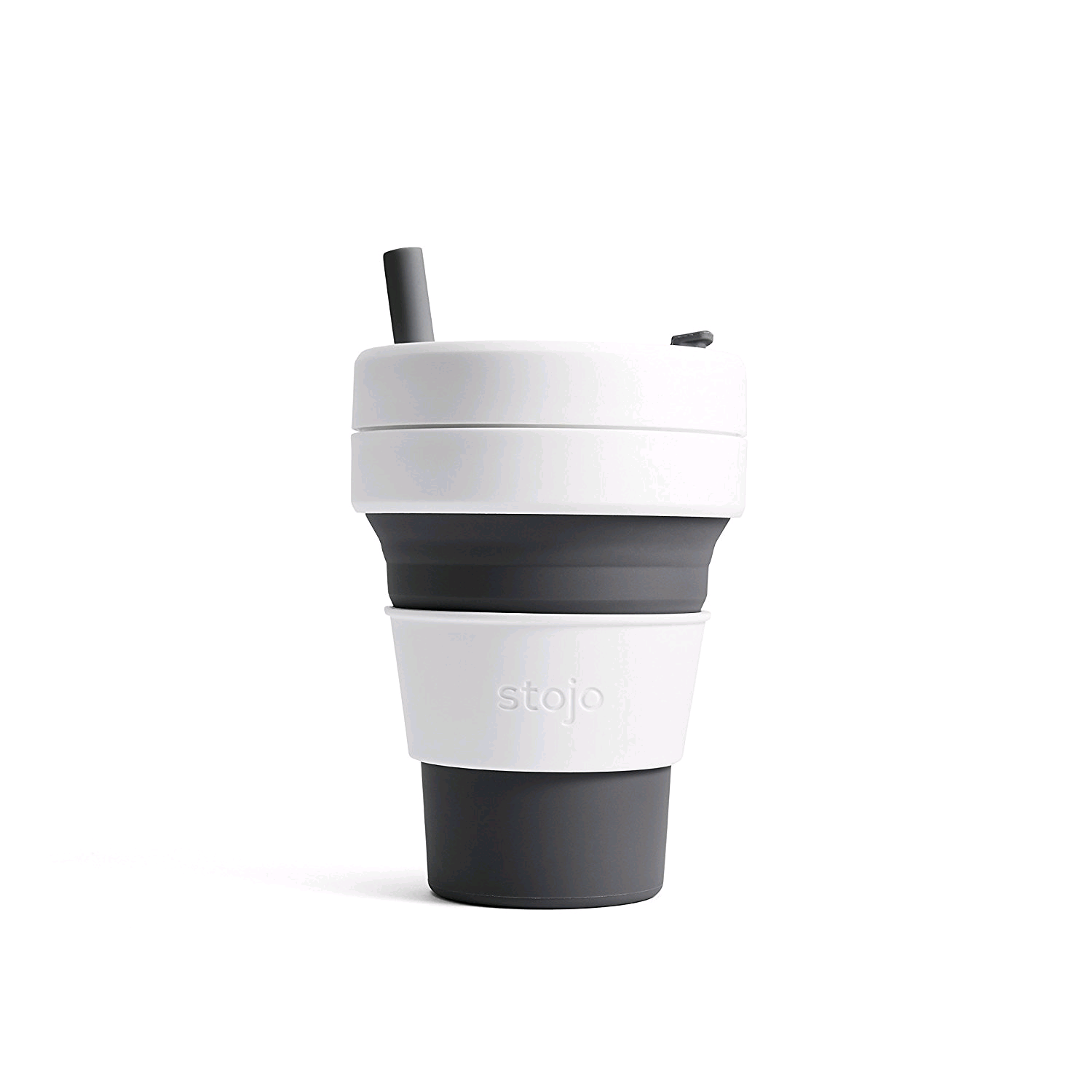 STOJO S2-SLT Silicone Collapsible Coffee Cup 16oz Slate
