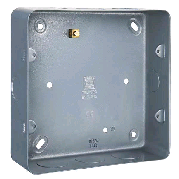BG Metal Clad Double Flush Mount Box