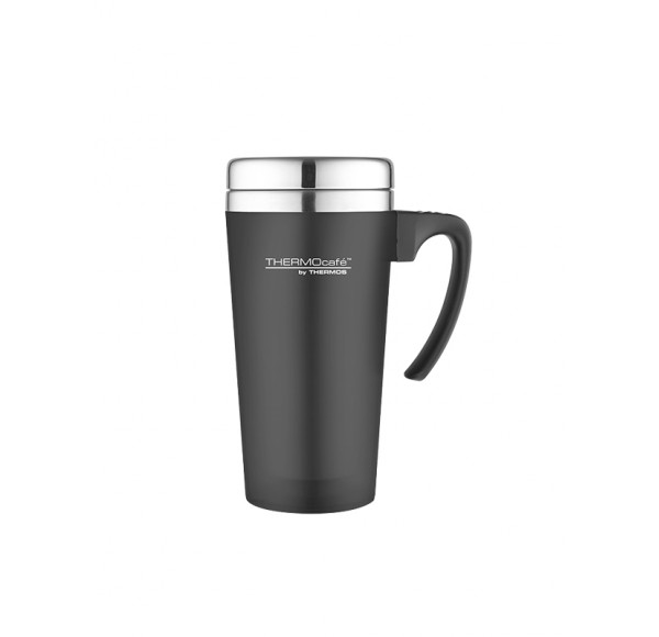 THERMOS 071400 SOFT TOUCH TRAVEL MUG BLACK 400ML