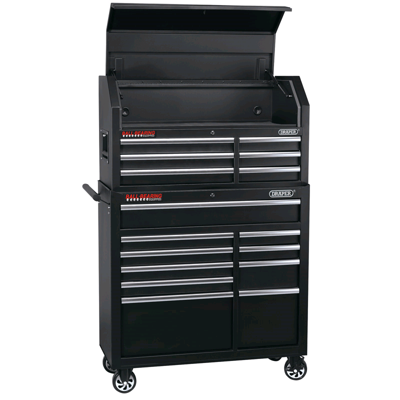 "Draper 42"" Combined Roller Cabinet and Tool Chest (16 Drawer)"