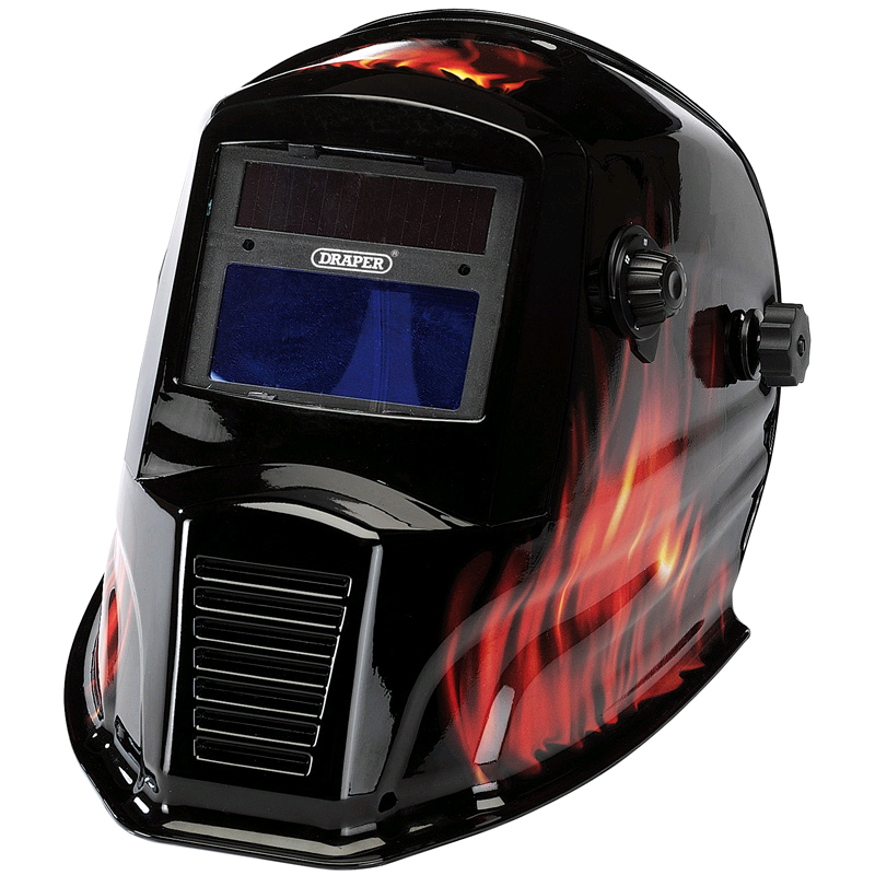 Draper  Solar Powered Auto-Varioshade Welding and Grinding Helmet-Flame