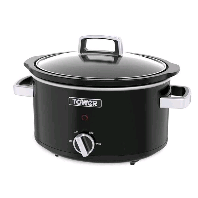 Tower Infinity Slow Cooker 6.5L 270w Black