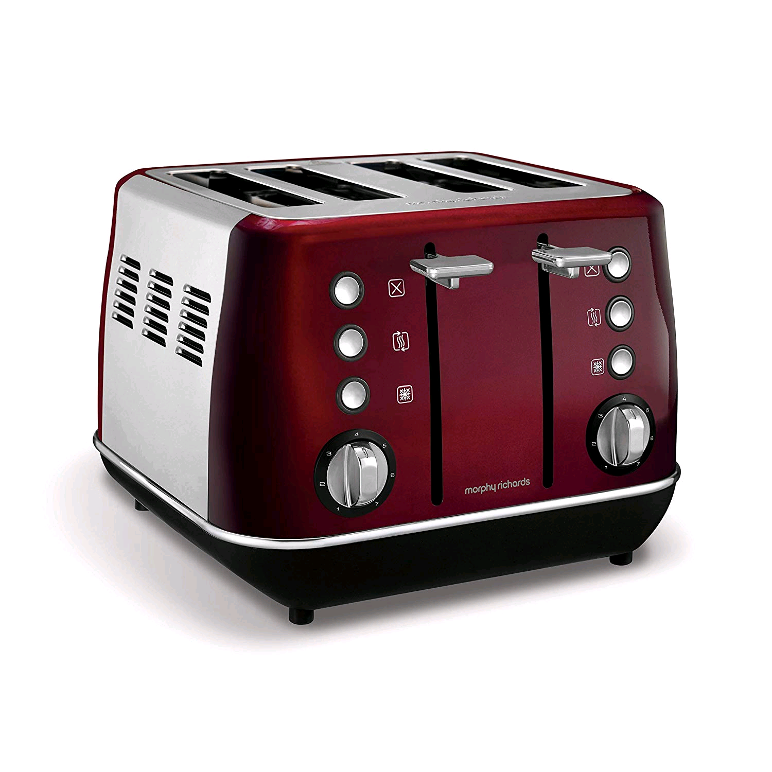 Morphy Richards Evoke 4 Slice Toaster Red