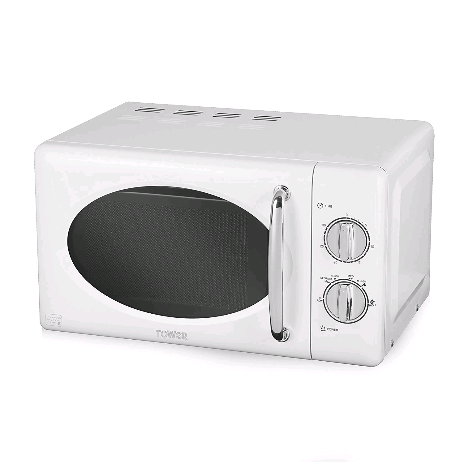 Tower Manual Microwave 20Ltr White 800w