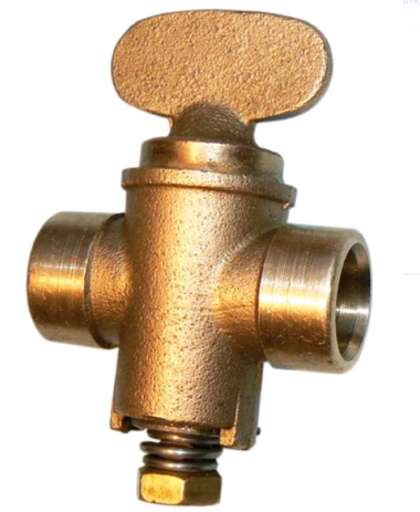 Copper Gas Cock 15mm Endfeed