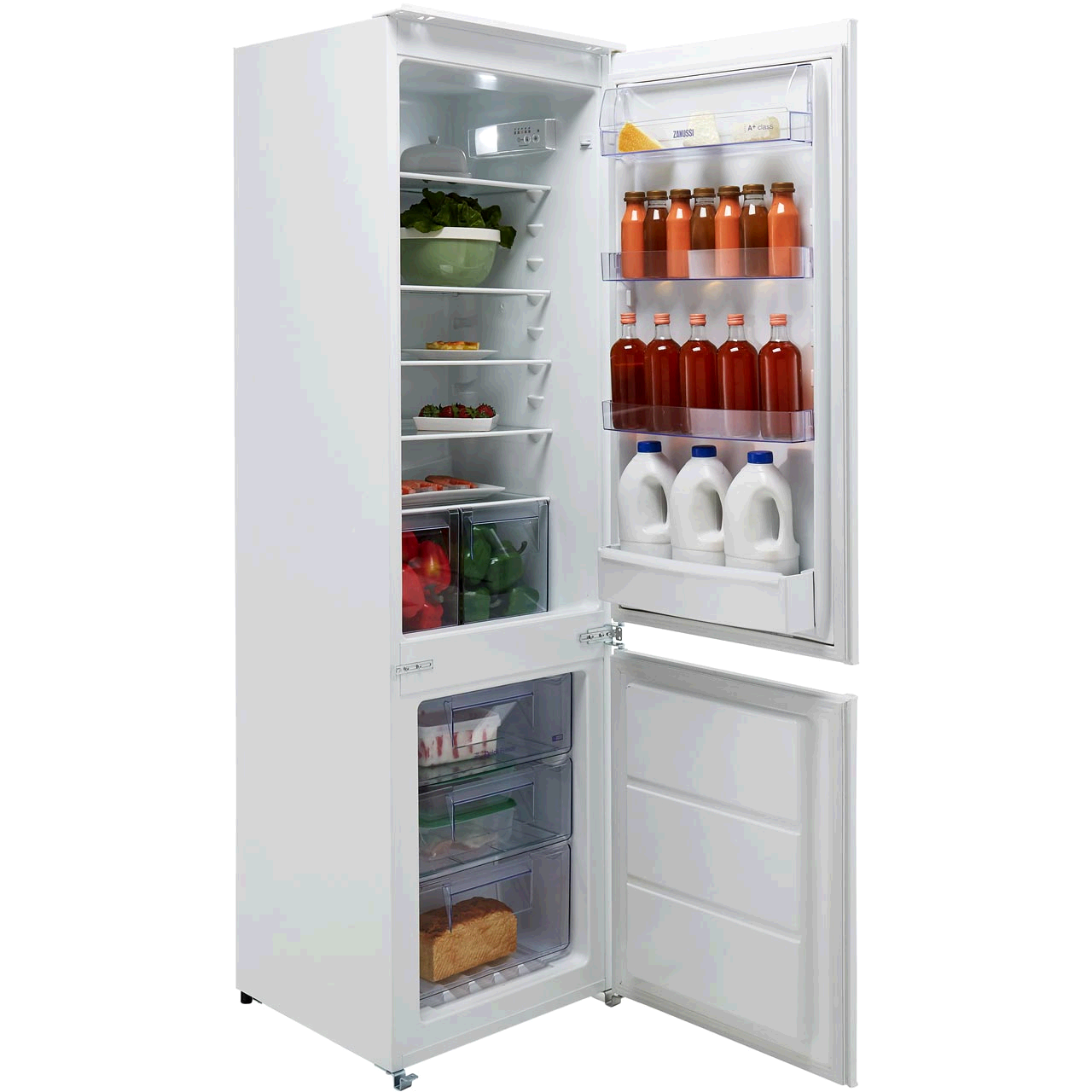 ZANUSSI Built In Fridge Freezer 70/30 Integrated Frost Free A+