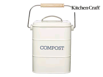 Kitchen Craft Compost Pail Cream LNCOMPCRE 3 litre