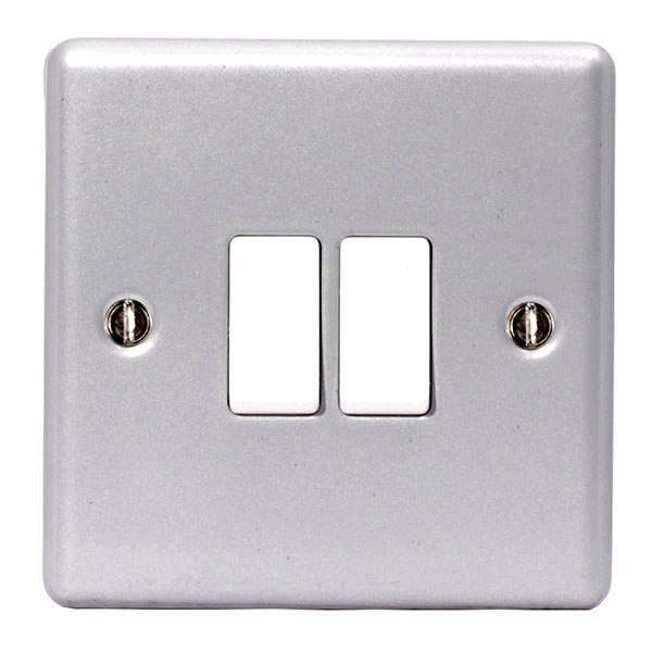BG Metal Clad 2gang 2way Switch