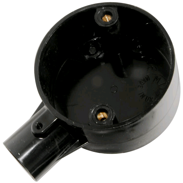 Falcon Conduit Terminal Box 20mm Black