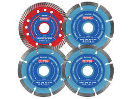 Faithfull 4Piece Diamond Blade Set