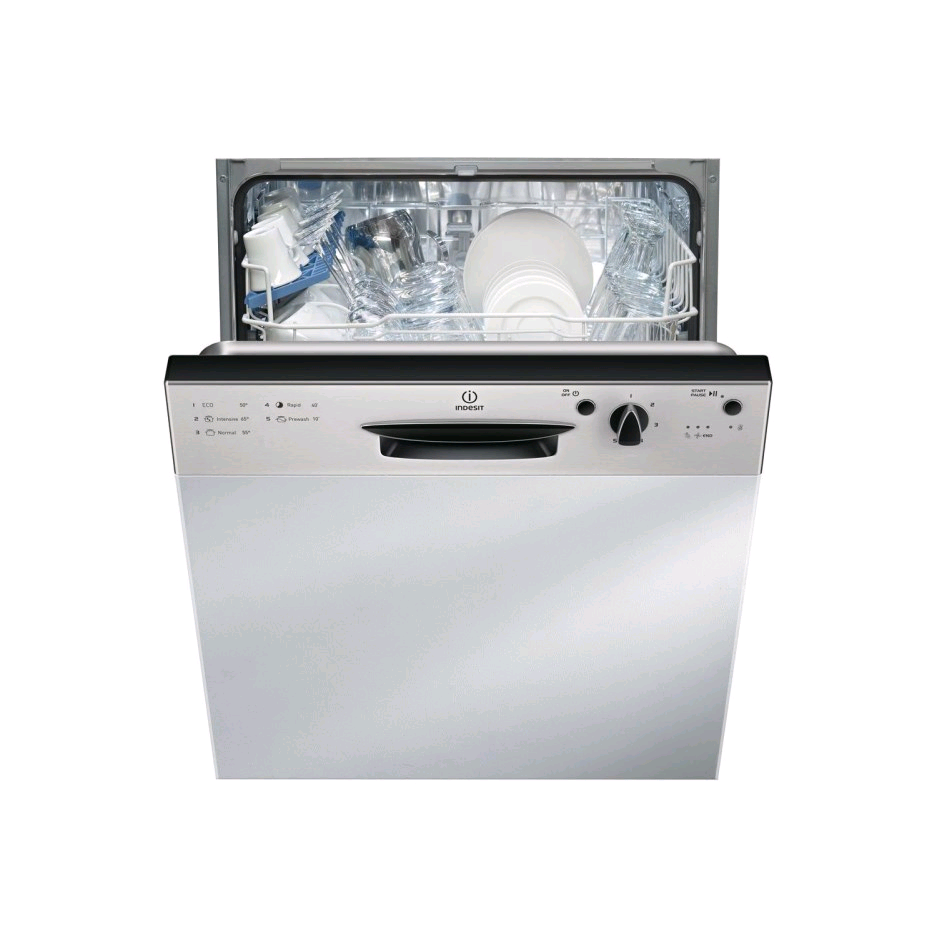 Indesit DPG15B1NX Semi Integrated Dishwasher 13 Place Ecotime