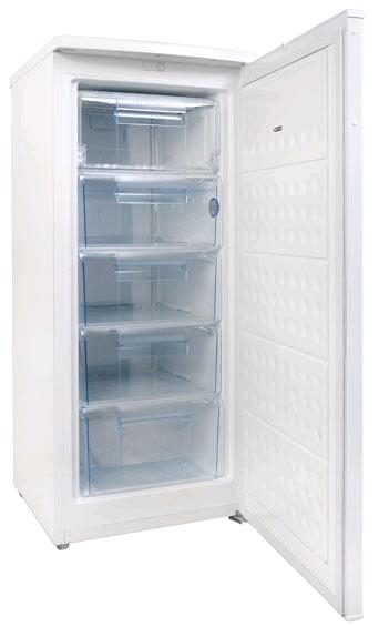 Amica FZ2063 Manual Defrost Upright FreezerH1252mm W 545mm D 566mm 5 drawer, 2 Year Warranty