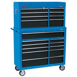 Draper 40 inch Combined Roller Cabinet & Tool Chest (19 Drawers)