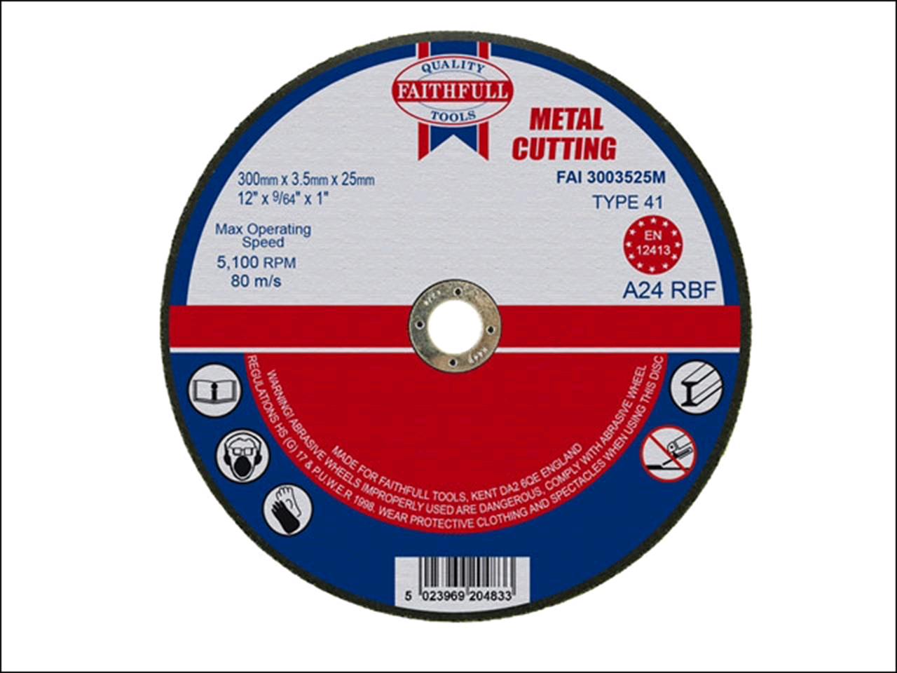 Faithfull Metal Cutting Disc 300 x 3.5 25mm