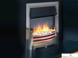 Flamerite Hudson Silver 2Kw 2 heat settings