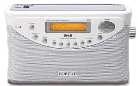 "Roberts White Gemin DAB Radio Battery Mains 6xC"" Batteries"""