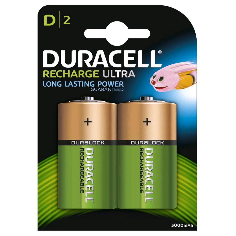 "Duracell Rechargeable "" D"" Battery 3000mAh 2pk"