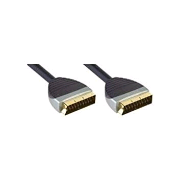 Bandridge Premium Scart Lead Gold 2mtr HIGH QUALITY