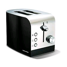 Morphy Richards 2 Slice Toaster in Black & Stainless