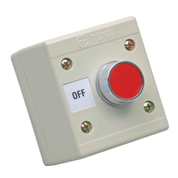 CED Red Push Button Control Station 240V OFF IP65