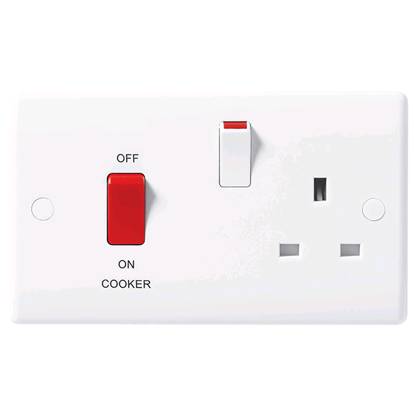 BG 45a DP Cooker Control Unit with 13a Socket