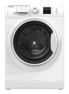Hotpoint NM10844WW Washing Machine 8KG 1400 Spin A+++ Steam Pack Rapid  Stop and Add
