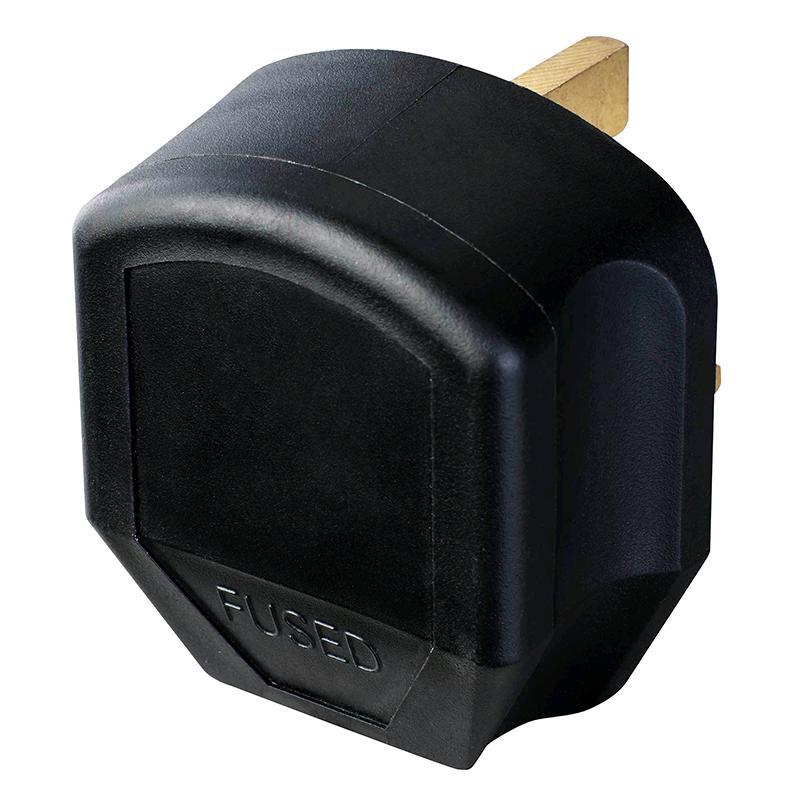BG Plug 13a Rubber Black