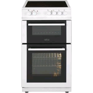 Belling 50cm Double Oven Ceramic Hob White